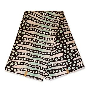 "African fabric BLACK GREEN wax fabric BOGOLAN / MUD CLOTH ""METALLIC"" wax cloth"