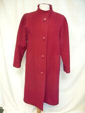 Ladies Coat St.Michael berry red pure new wool, UK 10 petite, EUR 38, long, 2122