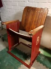 Reclaimed Single Cinema Chair Seat Interior Design Game Room / Man Cave