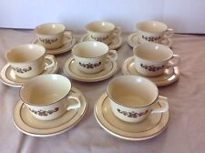 PFALTZGRAFF VILLAGE COFFEE,TEA, SOUP MUGS CUPS, LOT OF 8 ALL WITH SAUCERS