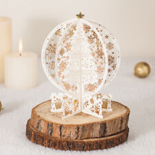 3D Pop Up Gold Snowflake Tree Decoration Greeting Cards Wedding Valentine Gifts