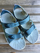 Merrell Women's Continuum Hiking Sandals Vibram Blue/Gray Strappy Size 8