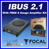 """Focal iBus 2.1 Under Seat Active Subwoofer 20cm 8""""  Bass Tube 2.1 System"""