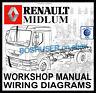 RENAULT MIDLUM TRUCK LORRY WORKSHOP SERVICE REPAIR MANUAL WIRING DIAGRAMS
