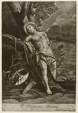 JOHANN ELIAS RIDINGER - St Sebastianus Maertirer - Mezzotinto 1735