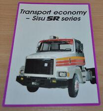 Sisu SR Truck Brochure Prospekt