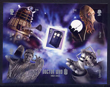 GB 2013 50th ANNIVERSARY of DOCTOR WHO TV PROGRAMME  MINIATURE SHEET MNH