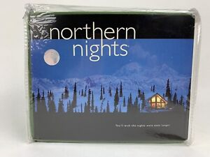 QVC Northern Nights 100% Cotton Brushed Flannel Twin Sheet Set Forest Green