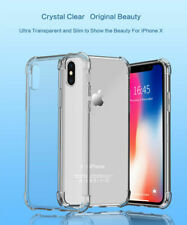 New 360° CLEAR TPU Armar Shockproof 4 Way Protector Case Cover For i phone X