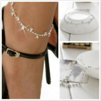 Women Stretch Crystal Diamante Foot Chain Anklet Ankle Bracelet Charm Jewelry KV