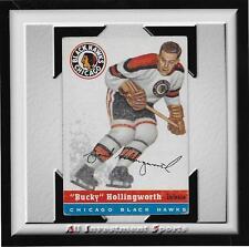 "1954 Topps ""BUCKY"" HOLLINGWORTH #12 VG+ *tough hockey card for set* DD17"