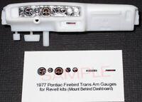 "1977 PONTIAC FIREBIRD TRANS AM GAUGE FACES for 1/25 scale REVELL ""BANDIT"" KITS"