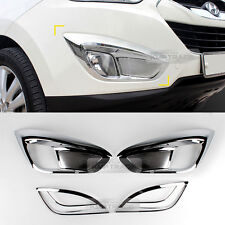 Chrome Fog Light Lamp + Reflex Lens Molding Cover For HYUNDAI 10-13 TUCSON ix35