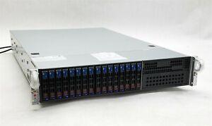 Supermicro 2027R-72RFTP+ 219-9 Server 2*E5-2630 v2 2.60GHz CPU 32GB 13*1TB SAS