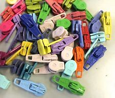 Bright Candy Colored Short Sliders for your #3 Coil Craft or Bag Zippers: 40 pcs