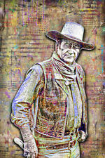 John Wayne Poster, John Wayne Movie Tribute The Duke with Free Shipping US