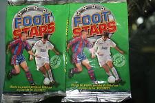 2 Sobres de cromos sin abrir  Foot Stars 1997 botones fichas