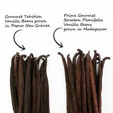 Assortment Vanilla Beans 2 types x 10 beans=20 Madagascar Tahitian FREE SHIPPING