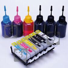 Refillable Ink Cartridges Kit For Canon Pixma MG8250 MG6250 PGI-525 CLI-526 GREY