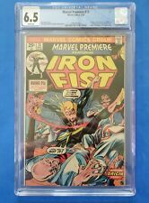 MARVEL PREMIERE #15 - CGC 6.5 with WHITE pages - 1st IRON FIST Danny Rand - Wow!