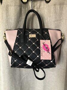 Betsey Johnson Blush Pink Dome Quilted Hearts Satchel handbag Style LBGIGI
