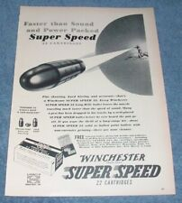 1952 Winchester Super Speed 22 Long Rifle Vintage Cartridges Ad