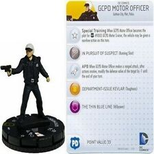 DC COMICS HEROCLIX FIGURINE STREETS OF GOTHAM : GCPD Motor Officer #049