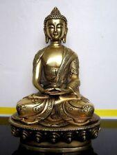 Tibetan Buddhis Amitabha copper buddha dragon brass statue