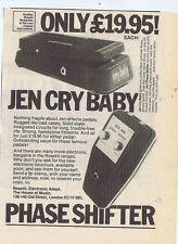 JEN CRY BABY / PHASE SHIFTER ADVERT press clipping 1977 (3/12/77) 15X20cm