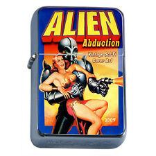 Vintage Alien Abduction D1 Flip Top Oil Lighter Wind Resistant Flame