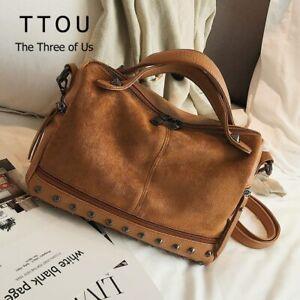 HOT Women Suede Leather Handbags Tote Large Shoulder Soft Bag Crossbody bag