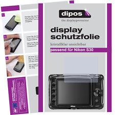 2x Nikon Coolpix s30 protectoras TRANSPARENTES para protector de pantalla Lámina invisible
