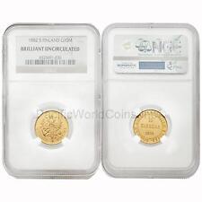 Finland 1882 S 10 Markkaa Gold Coin NGC Brilliant Uncirculated