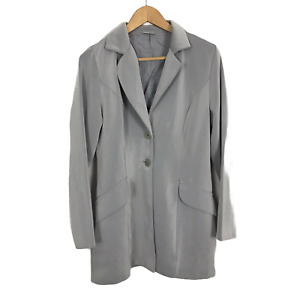 Select Vintage 90s Size 10 Grey Single Breasted Two-Button  Blazer Jacket