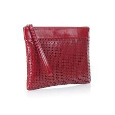 Nadia Minkoff Ladies Pimlico Leather Clutch Bag - Red - BNWT - rrp: £169