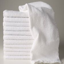 24  new white hotel a grade 100% cotton ringspun hand towels 16x27 r