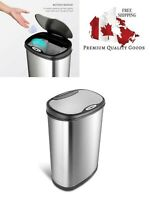 Nine Stars DZT-50-13 Infrared Touchless Stainless Steel Trash Can, 13.2-Gallon