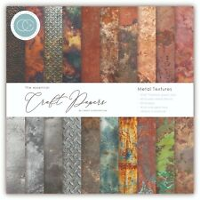 "New Craft Consortium 6"" x 6"" Paper Pad Craft Papers - Metal Textures"