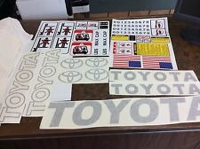 Toyota Forklift Decal Kit detailed with safety decals ( Dark Gray)