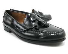 Johnston and Murphy - Black Leather - Tassel Loafers - 15-1095 - Men's Size 10 M