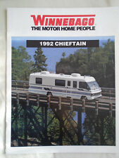 Winnebago Chieftain Motor Home brochure 1992