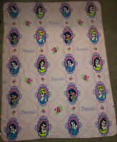 Disney Princess Pink Thin Fleece Throw Blanket  46x60 Cinderella Belle Jasmine