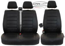 Intensiv Schwarze Sitzbezüge für VOLKSWAGEN VW LT Set extra Funktion Öffnung