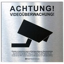 DSGVO+BDSG Datenschutz-Schild ACHTUNG VIDEOÜBERWACHUNG videoüberwacht ALU 15x15