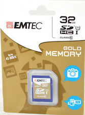 EMTEC 32GB CLASS 10 SD SDHC FULL SIZE FLASH MEMORY CARD CAMERA CAMCORDER Phone
