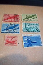us airmail used, collection of 19