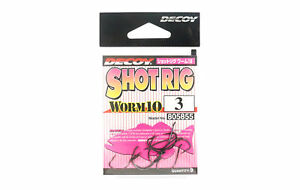 Decoy Worm 10 Shot Rig Worm Hook for Wacky Style Size 3 (5855)