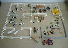 More details for vintage britains farmyard job lot - tractor, animals, people, fences & gate
