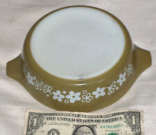"""PYREX by CORNING 471 CRAZY DAISY WHITE GREEN REPLACEMENT BOWL 7 5/8"""" X 6.25"""" USA"""