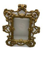 Vintage Ornate Cast Iron Picture Frame
